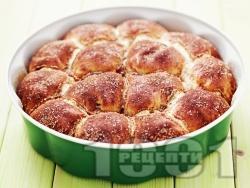 Домашни красиви мини питки със сирене, бяло брашно и масло (със сода и кисело мляко) - снимка на рецептата
